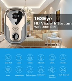 wholesale wireless doorbells 2019 - WiFi Smart Video Doorphone 1.0MP HD 720P Wireless Video Intercom System home Security Monitor Doorbell Camera with retai