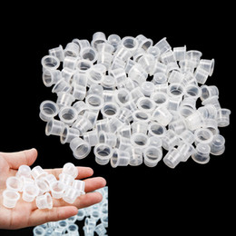 Barato Tamanhos De Tampa De Tinta-13MM Medium Size Tattoo Tinta Caps Caps Supply Professional Permanent Tattoo Accessory for Tattoo Machine Plastic New 1000Pcs / lot