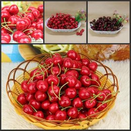 2017 New Arrival Artificial Fruits Simulation Cherry Cherries Fake Fruit  And Vegetables Home Decoration Shoot Props