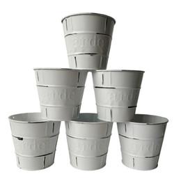 $enCountryForm.capitalKeyWord UK - Wholesale D11*H10.5CM Rustic Metal garden pail bucket tin box Iron pots Cream color Nursery pot