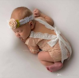 Dentelle Combinaisons Barboteuses Petti Bébé Pas Cher-Mode Nouveau-né Baby Lace Romper Baby Girl Cute Summer Petti Rompers Combinés Enfant Toddler Photo Clothing Bodysuits en dentelle douce 0-3M KBR05