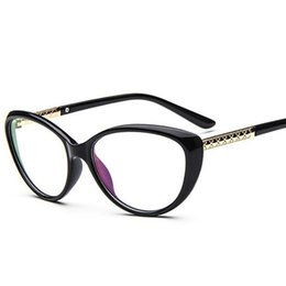 6fbc42420a68 Newest Eyeglass Frames UK - Wholesale- Newest Fashion Glasses Frame Vintage  Brand Design Cat Eye