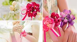 Korean Wedding Cloth Canada - New Wedding Celebration Supplies the Bride Wrist Flower Corsage Cloth Art is the Maid of Honor Sister Hand Korean Wedding Simulation Flower