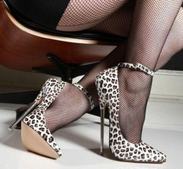 leopard pumps Canada - Free Shipping 2018 new 18cm Women High Heels Ladies Sexy Leopard Pumps Spring Autumn Pointed Toe Mary Jane Career Party Ankle Strap Shoes