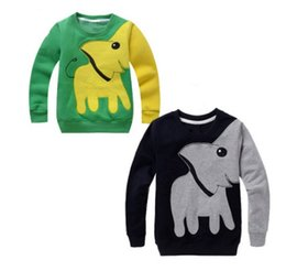 China Children Kids Long Sleeve T-shirts Tops Spring Autumn Girls Boys Cartoon Elephant Print Sweater Pullover Shirts Sweatshirt Clothing Clothes suppliers