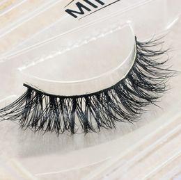 $enCountryForm.capitalKeyWord Australia - NUDE Naked Makeup 3D Eyelashes For upper eyes Messy Natural Cul Crisscross Lash extension Black Cotton Stem Wispies Mink Hair Eyelash false
