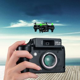 New Mini Drone Camera Canada - Hot Selling Brand New DHD D2 Mini Drone with Camera 2MP 2.4GHz 4 Channel 6 Axis Gyro Quadcopter 3D Rollover RTF Camera Drone with gift box