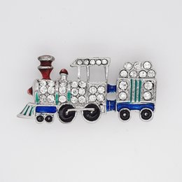 $enCountryForm.capitalKeyWord Canada - 12pcs lot Wholesale Crystal Rhinestone Enameling brooch Train pin Brooches Fashion Costume Children's jewelry gift C2544