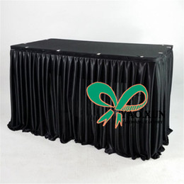 Chinese  1pcs Sale Cheap Price Poly Ice Silk Table Skirt \ Skirting For Wedding Party Decoration manufacturers