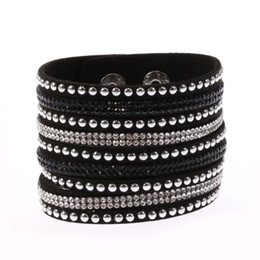 $enCountryForm.capitalKeyWord UK - Multilayer PU Leather Bracelets for Women Men Jewelry 2017 Magnetic Tassel Pulseira Feminina Fashion Cuff Bracelets & Bangles