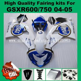 $enCountryForm.capitalKeyWord NZ - Injection molding fairings for SUZUKI GSXR600 2004 2005 GSXR750 04 05 K4 GSX-R600 GSX-R750 04 05 K5 Fairing kits White blue LUCKY STRIKE