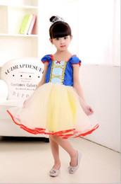 $enCountryForm.capitalKeyWord Canada - New Summer Girl Snow White Princess Dresses Kids Dress Children Cartoon Dresses Short Sleeve Girls Fashion Dress 13133