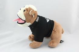Plush Toys Specials Canada - Wholesale- Special Mini Bulldog Cute Kawaii Stuff Plush Toy Doll Birthday Gift Home Car Decoration
