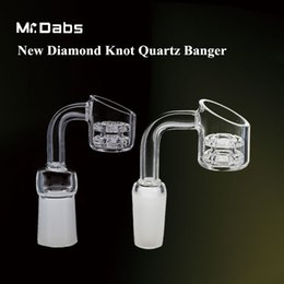 Discount nail diamond style - New Style Double Stack Diamond Knot Quartz Nail Quartz Banger Nail 10mm 14.4mm 18.8mm for bongs at mr dabs