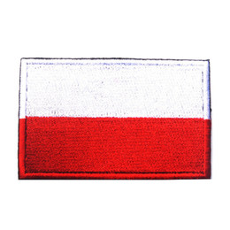 07af20df8a6 3pcs Europe Poland Flag Patch 3D Embroidery Tactical Patch Cloth Morale Armband  Army Combat Hook And Loops Badge