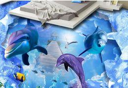 $enCountryForm.capitalKeyWord NZ - 3d flooring waterproof wall paper custom papel de parede Ocean World 3d wallpaper vinyl flooring adhesives