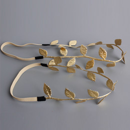 Gold Leaves Canada - New Mom Baby Gold Olive Leaves Take Photo Headbands Elastic Hairbands Boutique Hair Accessories Beautiful HuiLin BH06