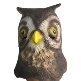 Full Cat Head Costume Canada - Cute Owl Latex Mask Full Head Halloween Animal Bird Minerva  sc 1 st  DHgate.com & Full Cat Head Costume Canada | Best Selling Full Cat Head Costume ...