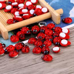 $enCountryForm.capitalKeyWord Canada - 100pcs Bag Wooden Ladybird Ladybug Sticker Children Kids Painted Adhesive Back DIY Craft Home Party Holiday Decoration