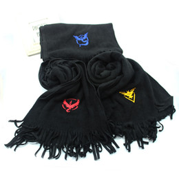 Acrylic Unisex Scarves NZ - 50pcs Lot 2016 Winter Warm Unisex Mans Womans Scarves Wraps Cartoon Pocket Monster Scarf Christmas Gifts CK1070