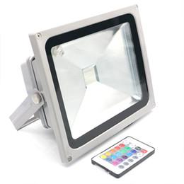 Flood light case online shopping - Silver Case IP65 Waterproof LED Flood Light W W Led Floodlight Outdoor Lighting AC85V V LED Spotlight