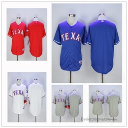 34e7ee65b ... Double Stitched Plain Texas Rangers Blank Men Baseball Jerseys With No  Name No Number Red White ...