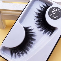 Maquillage Des Yeux Exagéré Pas Cher-New Black Thick Slim Models Coton Tige Eye Lashes Outil de maquillage nu Fake Eyelashes Exagéré Epais Cross Messy False Eyelashes