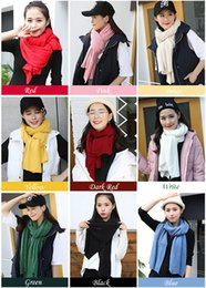 White Scarves Wholesale Canada - New winter cashmere scarf wool warm Knitted wool couple Scarves wraps wholesale scarf shawls for ladies and men