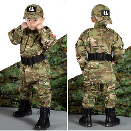 $enCountryForm.capitalKeyWord Canada - Outdoor Woodland Hunting Shooting Shirt Battle Dress Uniform Tactical BDU Set Army Combat Clothing Camouflage Children Uniform SO05-004