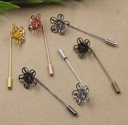 $enCountryForm.capitalKeyWord Canada - 50MM 18*7mm Silver Rose gold Antique bronze metal maple leaf lapel pin for men suits, fashion wedding badge long brooch stick pin jewelry