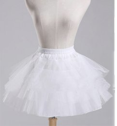 Robe Crinoline Pour Les Enfants Pas Cher-2017 Tulle blanche Trois couches Short Kids Girl Petticoats Crinoline Flower Dress Baby Petticoat Underskirt Cosplay Jupes