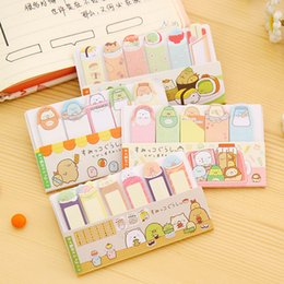 Sticky write note online shopping - Korea style Stationery Writing Pads Cute Corner creature mini message post Sticky note Memo pads Office School Supplies