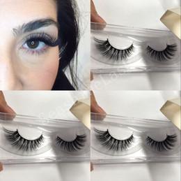 Soft False Eyelashes Canada - 3D Silk Lashes Soft Sterilized False Eyelashes Mix Size Hypo Allergenic Crisscross Handmade Eyelash Extensions Beauty Tool