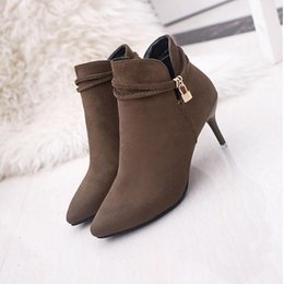 Suede Stiletto Ankle Boots Online   Suede Stiletto Heel Ankle ...