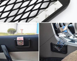 visor phone Australia - Car Net Bag Car Organizer Nets 15X8cm Automotive Pockets With Adhesive Visor Car Syling Bag Storage for tools Mobile phone