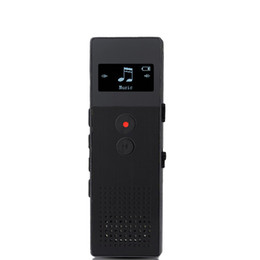 China Wholesale- Professional Portable Business Digital Voice Recorder Audio Recorder 8GB Metal Voice Tracker Telephone Recording MP3 Player C6 cheap metal digital voice recorder suppliers
