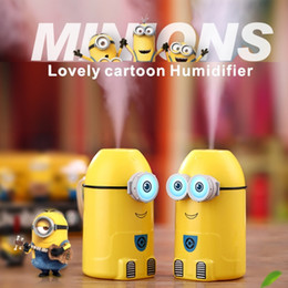 Mini Humidifier Lovely Cartoon Little Yellow Man LED Night Light Function USB Plug Car Office Living Room Bedroom Be Applicable
