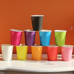 Barato Garrafas Descartáveis ​​por Grosso-Wholesale-10PCS Descartáveis ​​Papel Cup Party Candy Garrafa Outdoor Camping Picnic Drinkware Vending CateringTumblers Beber fontes do partido