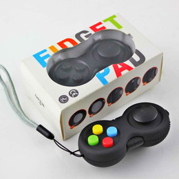 Second hand wholeSale online shopping - Fidget Pad Second Generation Fidget Cube fidget hand shank Adults Kids Novelty toys dhl OTH425