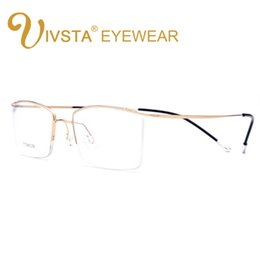 f6ae8792b55 Titanium Eyeglasses Frames Men Canada - IVSTA Titanium Glasses Men Memory Eyeglasses  Optical Frame Spectacle Eyewear