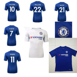17 18 top quality chelsea soccer jersey 2017 2018 home blue white willian  ... 537f4cf1d