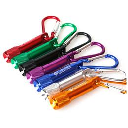 Mini LED Taschenlampe Aluminiumlegierung Taschenlampe mit Karabiner Ring Schlüsselanhänger Schlüsselanhänger Sport Mini LED Taschenlampen Großhandel Schlüsselanhänger Schlüsselanhänger