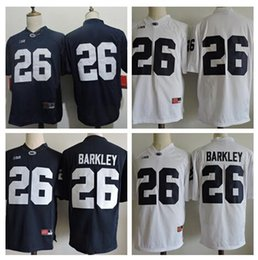 dc5841796 Mens Penn State Nittany Lions  26 Saquon Barkley No Name Navy Blue White  Stitched College Football Jerseys Size S-3XL