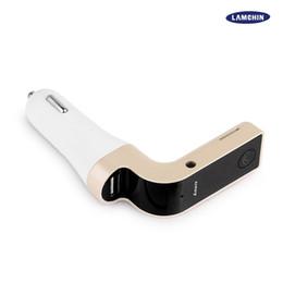 Venta al por mayor de AUTOMÓVIL G7 Bluetooth MP3 Transmisor FM Bluetooth inalámbrico Kit de coche Manos libres Adaptador de FM Transmisor con cargador de coche USB con paquete