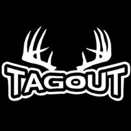 online shopping 20X11 CM TAGOUT Antlers Deer Hunt Hunting Originality Vinyl Decals Car Sticker Car styling