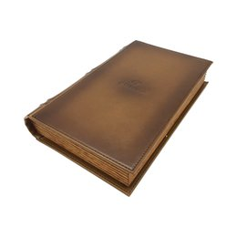Cohiba Cutters online shopping - Best Selling Cigar Tubes Book shape COHIBA Leather Cigar Humidor Brown Color with Cigar Cutter for smokers