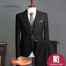 $enCountryForm.capitalKeyWord Canada - Men s suits sale Black men's plaid suit Three piece sui t for man Design suit coat pant Mens suit fashion Formal sui t wedding Business