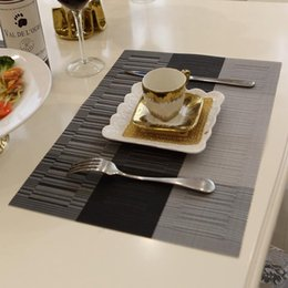 $enCountryForm.capitalKeyWord Canada - hot sale kitchen accessories 3 colors fashion PVC dining table placemat tableware pad coaster coffee tea place mat 30x40cm size