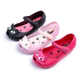 $enCountryForm.capitalKeyWord Australia - Asian size Summer Childrens Jelly Shoes Cat Jelly Shoes Transparent Crystal Fashion Sandals Baotou Buckles Sandals Sandals of the Girls