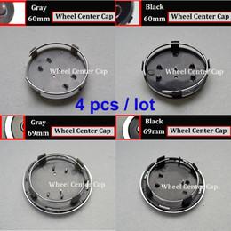 $enCountryForm.capitalKeyWord NZ - 4Pcs 69mm 60MM Wheel Hub Emblem Cover Auto Wheel Center cap badge Covers car wheel hub cap black gray for A1 A2 A3 A4 A5 A6 A7 A8 Q1 Q3 Q5